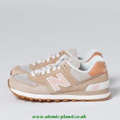 new balance 574 beige pink
