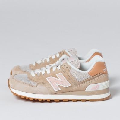 new balance 574 beige white