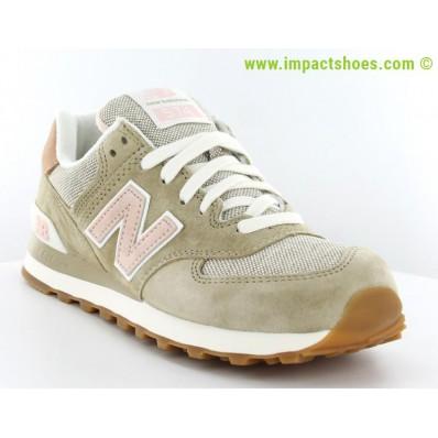 new balance 574 rose et beige
