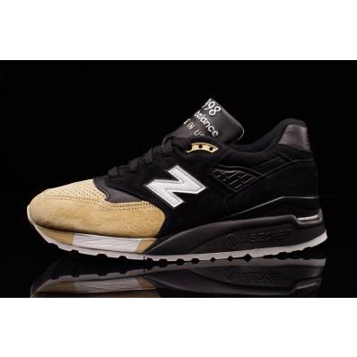 new balance black and beige