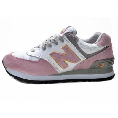 new balance grijs met roze