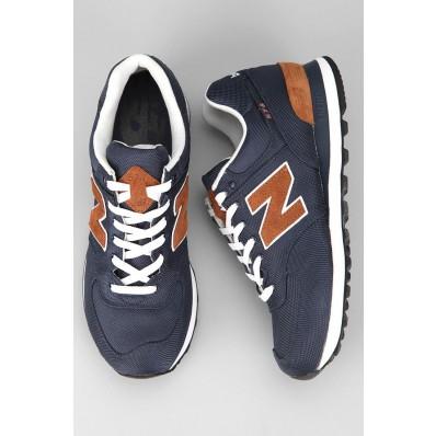 new balance ml574 leather fur schoenen