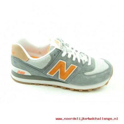 new balance sneaker grijs oranje