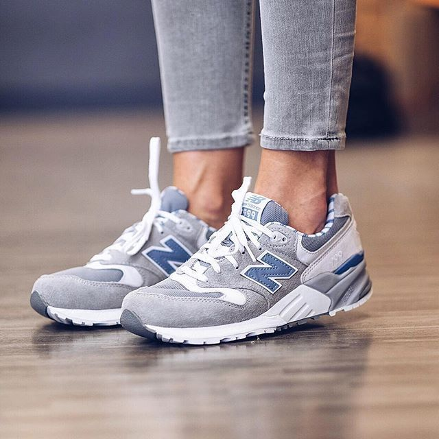 new balance - 999 - baskets - beige et bleu