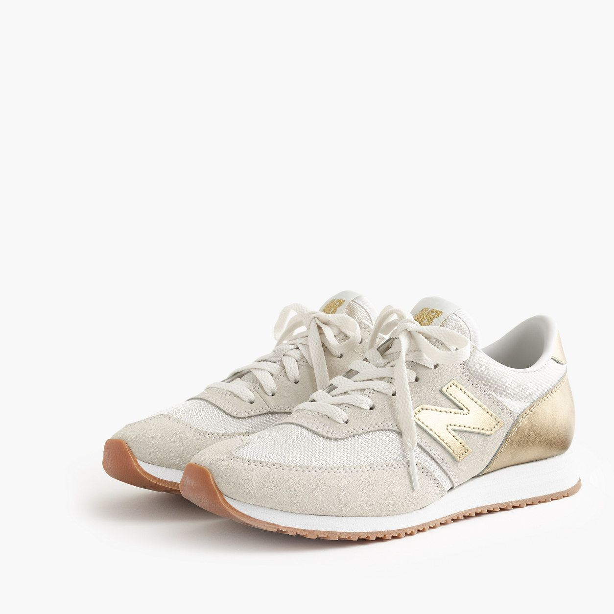 new balance beige and white