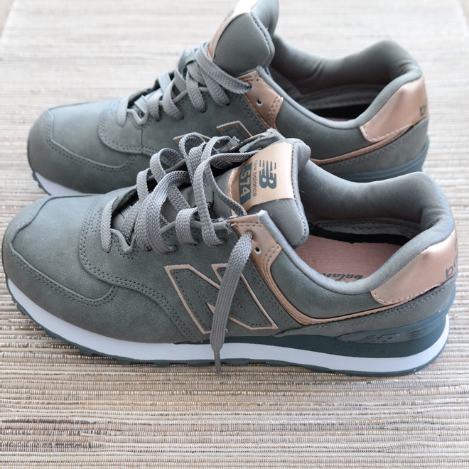 new balance dames rose gold