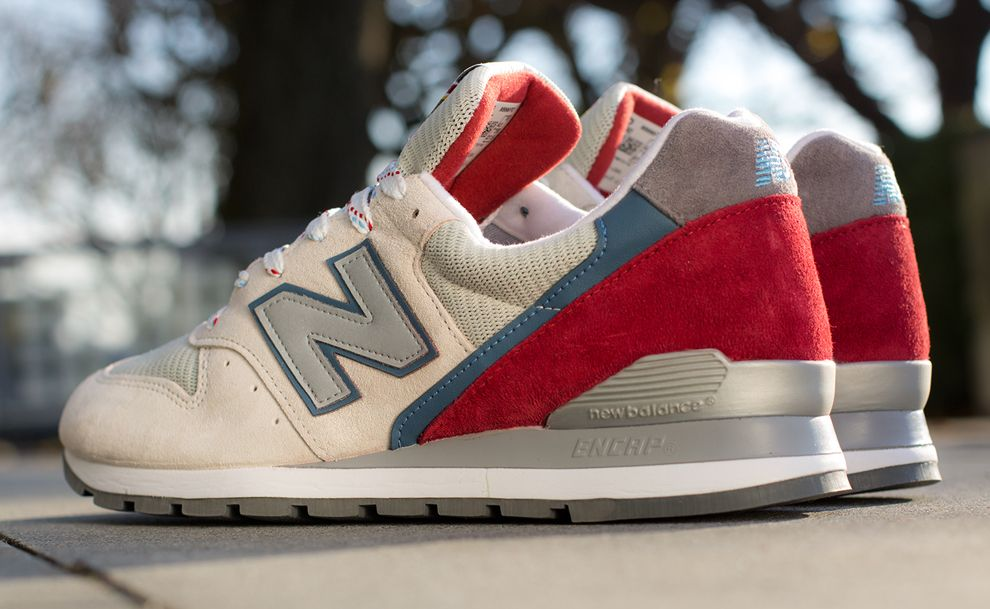new balance red beige
